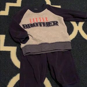 Little Brother sweatsuit. Size: 3-6mo